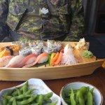 Sima Lunch Set with extra maki sushi.