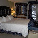 Jr. Suite #45 Kingsize bed, horrible down filled pillows.