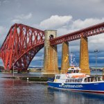 The Magnificent Forth Bridge in all its glory crossing the Forth from South to North Queensferry