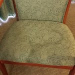Rm 122 - Stains on both chair seats