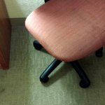 Rm 122 - Stains on both chair seats and floor