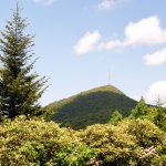The television tower atop Mount Pisgah makes this mountain easy to identify.