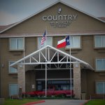 Country inn & Suites Fort Worth West of off I30 and Cherry lane . Newly renovated Front entrance
