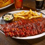 Full Rack of mouthwatering fall-off-the-bone ribs!