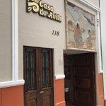 The exterior entrance on San Martin