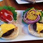 2 of the cheeseburger sliders...