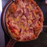 Canadian bacon and pineapple personal size pizza