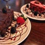Dark Chocolate Cheesecake & Red Velvet Cheesecake