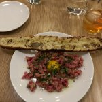 Steak Tartare (Elderflower Old Fashioned in the upper right hand corner) both AMAZING!