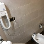 A bidet and an old hairdryer