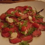 Beef Carpaccio with Butter poached Lobster