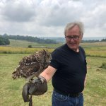 My husband with an eagle owl