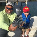 My son with Mark and a sheepshead