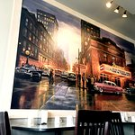 Big mural on the south wall of the Restaurant in the main dining area