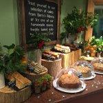 Great displays of home made food at Brambridge
