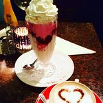 Eton Mess and a love heart cappuccino ♥