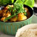 kumara vege & fish curry