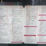Just passing on 15/2/18 do took menu pics.