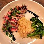 seared tuna with risotto