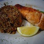 Salmon w/ rice pilaf