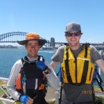 Matt and myself from Goat Islands old water police HQ