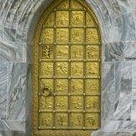 Golden door to the tower