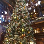 Christmas tree at hotel