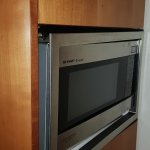 The microwave with loose surrounding