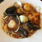 Linguini with Shrimp & Scallops in Diablo Red Sauce