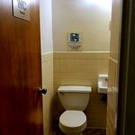 Shared toilet. Located directly across from guest rooms.