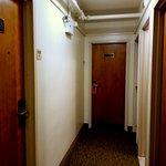 Upper floor room hall exterior