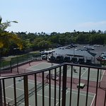 Balcony view over the tennis courts