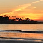 Sunset walks along La Jolla Shores Beach while enjoying the stay at La Jolla Shores Hotel