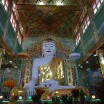 the buddha statue in the hall