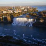 At the far right side of the American Falls, you can see the small Bridal Veil Falls.