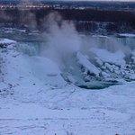 Niagara frozen, photo taken from hotel room balcony