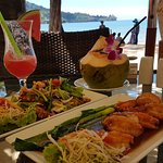 Lunch at Kamala beach. Inexpensive