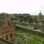 A view from the top towards the Colosseum