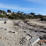 Beach wth cafe