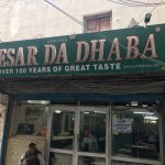 Kesar da Dhaba, Amritsar.Take a battery operated rickshaw from the Golden Temple Complex.