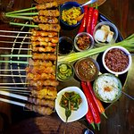 we had a variety of super tasty and beautifully presented satay