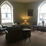 The communal lounge, with TV around the corner