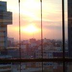 Sunrise from the 10th floor lobby
