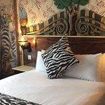 Zebra themed bedroom
