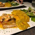 Dish of the day - mahi mahi with shrimps