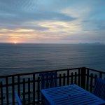 Balcony view of the ocean