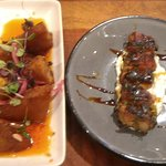 Shrimp Toast and Duck Poppers Appetizers