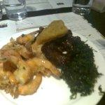 salted prawns with seaweed