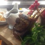 Homemade Honeycomb and a Rack of lamb Sharing Special.