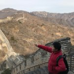 Our guide at the Great Wall of China